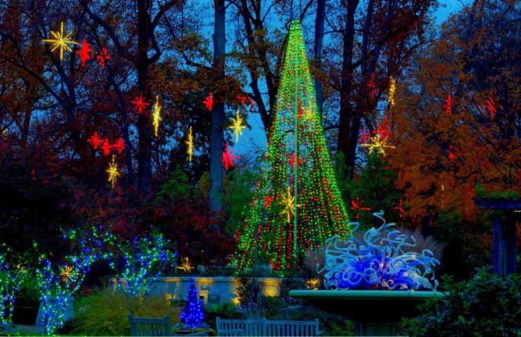 botanical gardens Christmas display