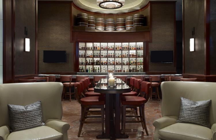 southern art and bourbon bar