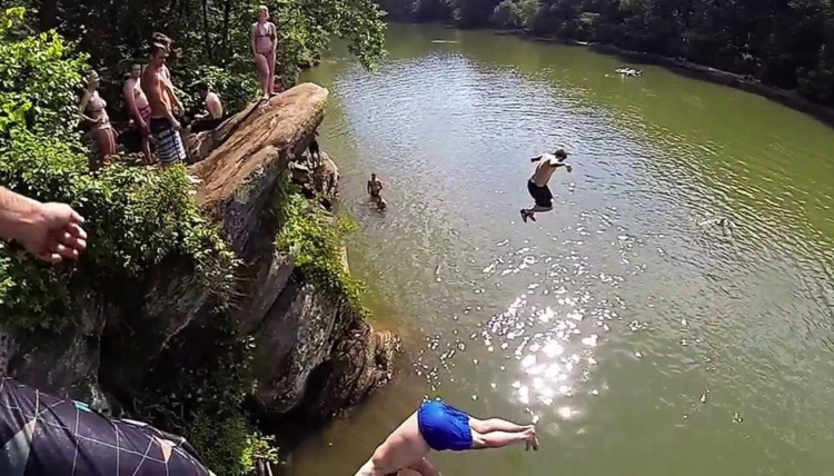 fun things to do in atlanta, chattahoochee river cliff jump