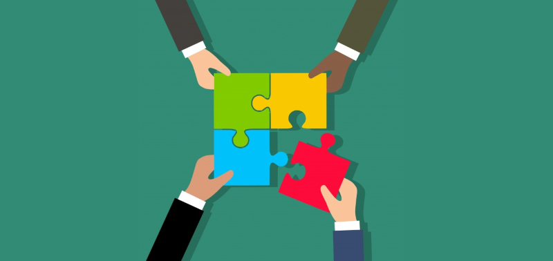 team-building puzzle piece